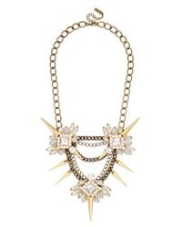 BaubleBar - Metallic Spiked Lily Necklace - Lyst