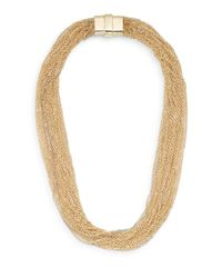 Saks Fifth Avenue - Metallic Multi-chain Statement Necklace/goldtone - Lyst