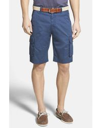 Robert Graham | Blue 'globe Trotter' Cargo Shorts for Men | Lyst