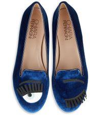 Chiara Ferragni - Blue Chiara Velvet Loafers - Lyst