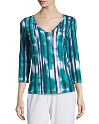 Cosabella - Blue Loire 3/4-sleeve Striped Lounge Top - Lyst