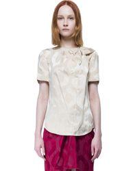 Isabel Marant - Brown Short Sleeves Top - Lyst