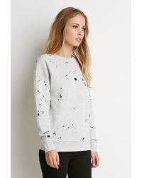 Forever 21 | Gray Paint Spatter Graphic Sweatshirt | Lyst