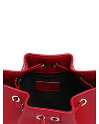 Versus | Red Studded Leather Bucket Bag | Lyst