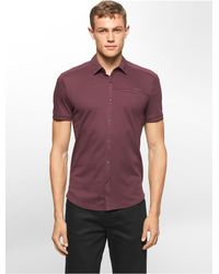 Calvin Klein | Purple White Label Classic Fit Button Front Polo Shirt for Men | Lyst