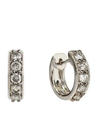 Annoushka | Metallic Dusty Diamonds Mini Hoop Earrings | Lyst
