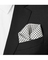 Emma Willis | White Printed Silk Pocket Square for Men | Lyst