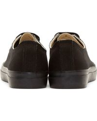 Yohji Yamamoto - Black Canvas Lace_up Sneakers for Men - Lyst
