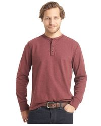 G.H. Bass & Co. | Brown Big And Tall Long-sleeve Carbonized Henley Shirt for Men | Lyst
