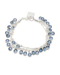 Anne Klein | Blue Three-strand Dangling Bracelet | Lyst