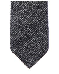 Drake's - Gray Charcoal Houndstooth Melange Woven Tie for Men - Lyst