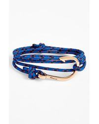 Miansai | Blue Rose Gold Hook Rope Bracelet for Men | Lyst