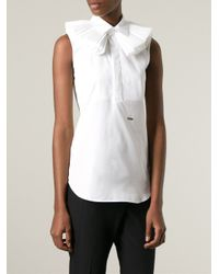 DSquared² - White Ruffle Collar Sleeveless Top - Lyst