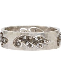 Cathy Waterman | White Cutout Paisley Leaf Band | Lyst