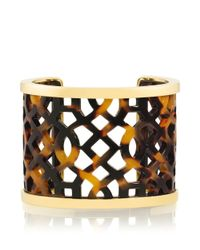 Tory Burch - Brown Chantal Perforated Cuff - Lyst