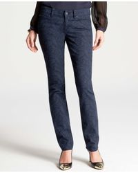 Ann Taylor - Blue Petite Modern Paisley Slim Denim Jeans - Lyst