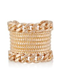 Givenchy | Metallic Armadillo Rose Gold-Plated Cuff | Lyst