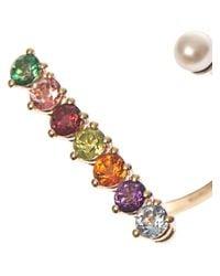 Delfina Delettrez - Multicolor Topaz, Peridot, Pearl & Gold Ring - Lyst