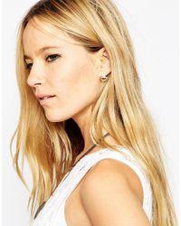 ASOS | Multicolor Limited Edition Mismatch Shape Stud Earrings | Lyst