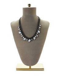 Givenchy - Gray Hematite-Tone & Opal Necklace - Lyst
