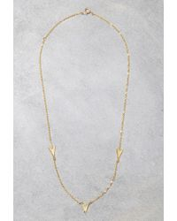 Forever 21 - Metallic Makko Small Arrow Necklace - Lyst