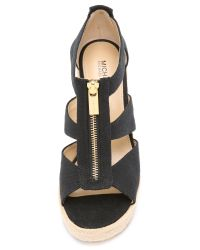 MICHAEL Michael Kors - Black Damita Wedge Sandals - Lyst