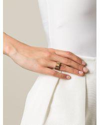 Saint Laurent   Metallic 'clous De Paris' Ring   Lyst