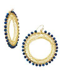 Nakamol - Metallic Beaded Spiral-Wire Earrings - Lyst