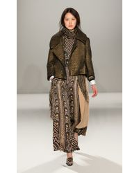 Temperley London - Natural Long Shaw Knit Cardigan - Lyst