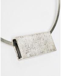 ASOS - Metallic Brushed Bar Torque Necklace - Lyst