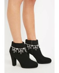 Forever 21 | Metallic Etched Charm Boot Anklet Set | Lyst