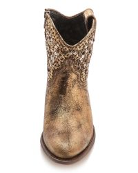 Frye - Metallic Deborah Studded Short Western Boot - Lyst