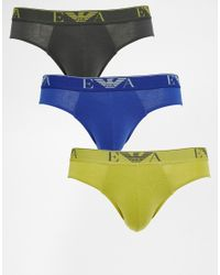 Emporio Armani - Multicolor Briefs In 3 Pack for Men - Lyst