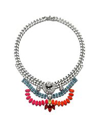 Courtney Lee Collection | Metallic Melanie Necklace | Lyst