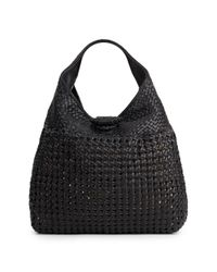 Sondra Roberts | Black Woven Faux Leather Hobo | Lyst