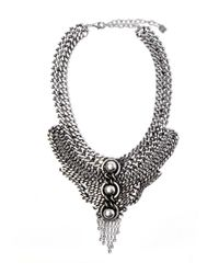 DANNIJO - Metallic Silver Chain Link Statement Necklace - Lyst