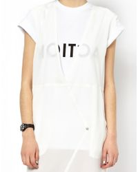 Back by Ann-Sofie Back - White Back By Annsofie Back Sheer Jeans Dress - Lyst
