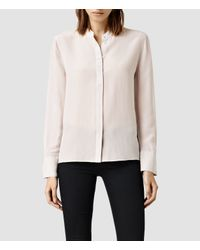 AllSaints | Natural Ando Shirt | Lyst