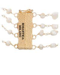 Rosantica By Michela Panero - White Prateria Layered Pearl Necklace - Lyst
