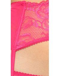 La Perla - Pink Begonia Garter - Nero - Lyst