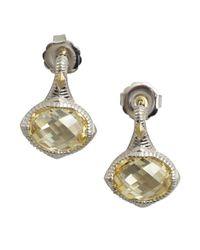 Judith Ripka   Metallic Canary Crystal 'contempo' Oval Earrings   Lyst