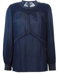 Isabel Marant - Blue 'ania' Blouse - Lyst