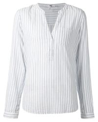 PAIGE | White Vertical Stripes Tunic | Lyst