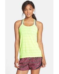 Nike | Green 'cool Breeze' Dri-fit Strappy Running Tank | Lyst