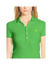 Polo Ralph Lauren | Green Skinny Stretch Polo Shirt | Lyst