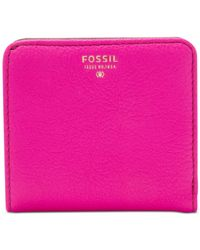 Fossil | Pink Sydney Leather Bifold Wallet | Lyst