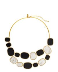 kate spade new york | Metallic Empire Pave Bib Necklace | Lyst
