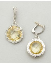 Judith Ripka - Metallic Canary Crystal 'eclipse' Drop Earrings - Lyst