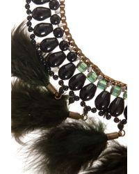 Étoile Isabel Marant | Green Short Feather Necklace | Lyst