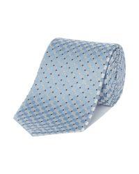Armani - Blue Square Textured Geo Tie for Men - Lyst